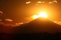玉葉橋から望む富士の写真