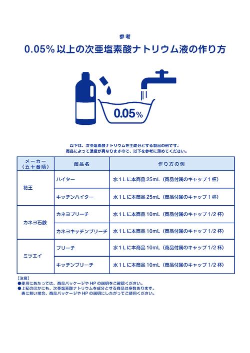 台所 洗剤 で 作る 消毒 液